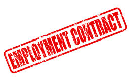 EMPLOYMENT CONTRACT red stamp text Stock Image