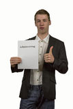 Employment contract 6 Stock Photography