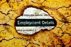 Employment details Royalty Free Stock Images