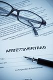 Employment in the German language Royalty Free Stock Photography