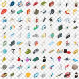 100 employment icons set, isometric 3d style. 100 employment icons set in isometric 3d style for any design vector illustration stock illustration