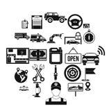 Employment icons set, simple style. Employment icons set. Simple set of 25 employment vector icons for web isolated on white background stock illustration