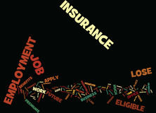 Employment Insurance Word Cloud Concept. Employment Insurance Text Background Word Cloud Concept Royalty Free Stock Photography