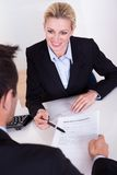 Employment interview and application form Royalty Free Stock Photos