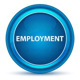 Employment Eyeball Blue Round Button. Employment Isolated on Eyeball Blue Round Button stock illustration