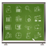 Employment and jobs icons Royalty Free Stock Image