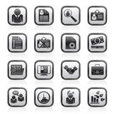 Employment and jobs icons. Vector icon set Royalty Free Stock Photos