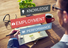 Employment Knowledge Performance Business Career Concept Stock Photography