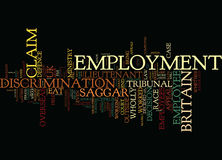 Employment Law Claims Overseas Worker Word Cloud Concept Stock Photos