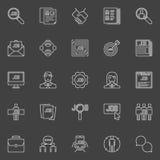 Employment line icons Stock Photo