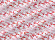 Employment Newspaper Ad. Job employment in newspaper ads Royalty Free Stock Images