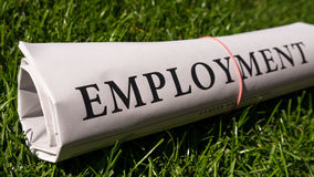 Employment newspaper Stock Photography