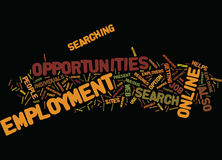 Employment Opportunities Text Background Word Cloud Concept Stock Image