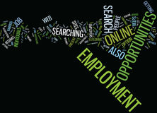 Employment Opportunities By Tom Husnik Text Background  Word Cloud Concept Royalty Free Stock Images