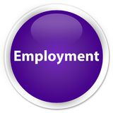 Employment premium purple round button. Employment isolated on premium purple round button abstract illustration royalty free illustration