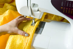 Employment by sewing of a house Royalty Free Stock Image