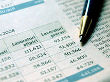 Employment statistics Stock Image