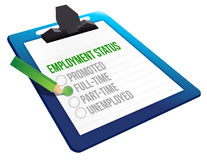 Employment Status clipboard Royalty Free Stock Photography