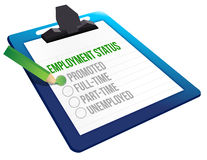 Employment Status clipboard Royalty Free Stock Images