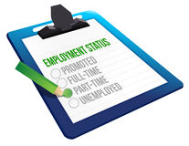 Employment Status clipboard Stock Images