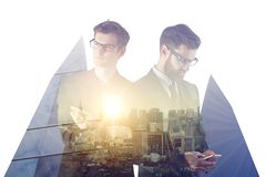 Employment, success, teamwork and communication concept Stock Image