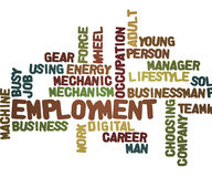 Employment Tag cloud Stock Photography