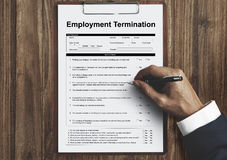 Employment Termination Form Page Graphic Concept royalty free stock image