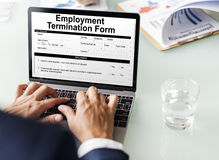 Employment Termination Form Page Graphic Concept Stock Photos