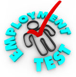 Employment Test - Check Mark and Box Stock Photography