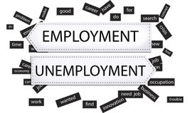 Employment Unemployment Crisis Innovation Concept Royalty Free Stock Photography