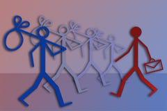 Employment and unemployment vector illustration