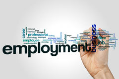 Employment word cloud Royalty Free Stock Photo