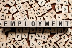 Employment word concept stock image