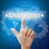 Employés dans le mot pour les ressources humaines Images libres de droits