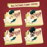 Employés de bureau multi-ethniques - DÈS QUE POSSIBLE Image libre de droits