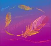 Emplume en el viento libre illustration