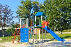 Emply playground in  park Stock Photography