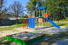 Emply playground in park Royalty Free Stock Image