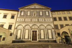 Empoli (Florence), church by night Royalty Free Stock Image