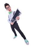 Empollón del friki del ordenador Foto de archivo libre de regalías