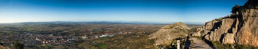 Emporda. Panoramic view of Emporda fields, Costa Brava Royalty Free Stock Images