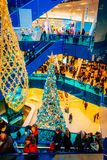 Emporia, modern shopping center, is visited by many people during Christmas season in Malmo, Sweden Stock Image