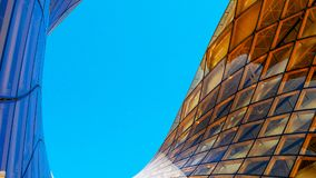 Emporia shopping mall, city of Malmo in Sweden. Modern glass building , the biggest ones in Scandinavia.. Detail of Emporia, a shopping mall. Near Malmo Arena Royalty Free Stock Photos