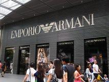Emporio Armani Bildschirmanzeige Lizenzfreie Stockbilder