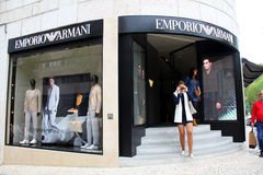 Emporio Armani shop Royalty Free Stock Image