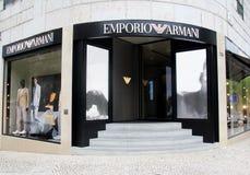 Emporio Armani shop Stock Image