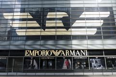 Emporio Armani sign Stock Photo