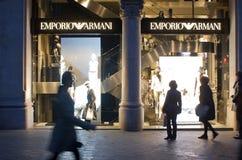 Emporio Armani store Royalty Free Stock Photos