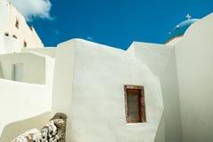EMPORIO, GREECE-SEPTEMBER 02,2014: Rua de Emporio, Santorini isl Fotos de Stock Royalty Free
