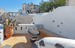 Emporio à l'île de Santorini, Grèce Image libre de droits